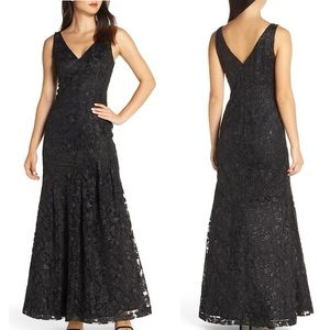 NEW Vince Camuto Lace Asymmetrical Gown $288